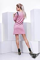 Женское платье с кожаными вставками мини
