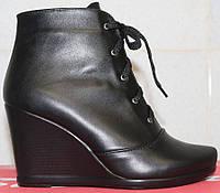 Женские ботинки весенние кожаные на платформе, весенняя женская обувь от производителя модель СТБ15П