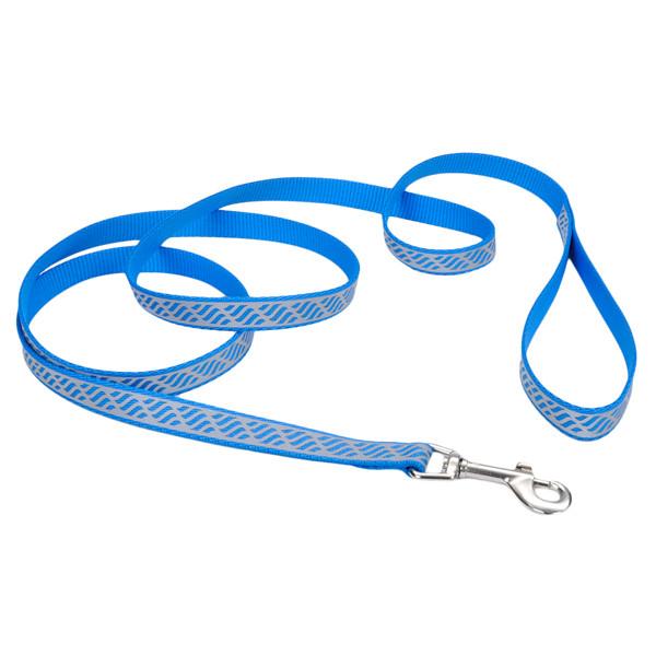 Coastal Lazer свето-отражающий поводок для собак, голубая волна, 1,6см, 1,2м