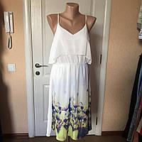 Платье женское  сарафан летнее на бретелях легкое шелковое белоеVERO MODA