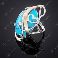 Серебряное кольцо с бирюзой. Артикул П-295