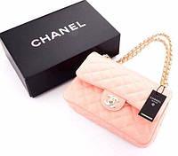 Сумка-клатч  Coco Chanel в розовом цвете