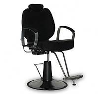 Мужское парикмахерское кресло B-15 черное