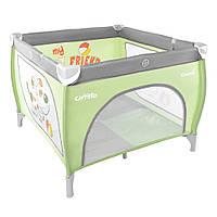 Детский манеж Carrello GRANDE CRL-7401 серо-зеленый