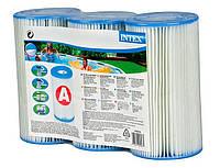 Набор сменных фильтр-картриджей (A) 3 шт. для фильтрующих насосов INTEX 29003