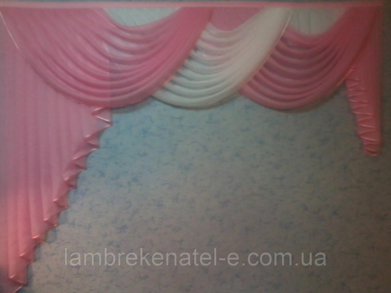 Ламбрекен на двухметровый карниз