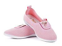 Балетки- мокасины нежно- розовые эко-кожа р38-24,5см