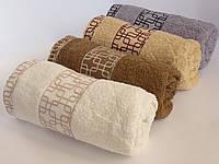 Махровое лицевое полотенце 100х50см (лабиринт)