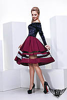 Платье, юбка с сеткой внизу