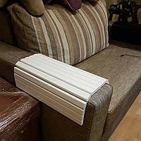 Деревянная накладка-подлокотник (400х400) Натуральное дерево - ясень Белый