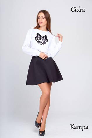 Модная юбка неопрен Кампа черная, фото 2