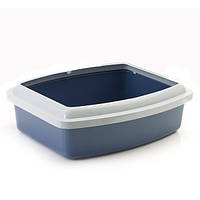 Savic ОВАЛ ТРЕЙ+РИМ (Oval Tray+Rim) туалет для котов с бортом, овал, большой, 46Х39Х14 см
