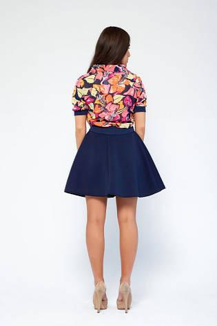 Модная юбка неопрен Кампа темно-синяя, фото 2
