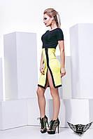 Платье мини с секси разрезом короткий рукав