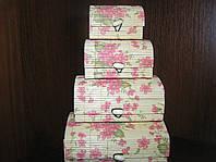 Набор бамбуковых шкатулок Цвет сакуры 4 шт.