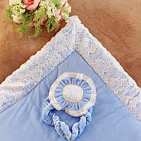 """Конверт-одеяло """"Небесный цветок""""(венса-осень)"""