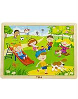"""Пазл Viga Toys """"Времена года. Весна"""", деревянные пазлы для детей"""