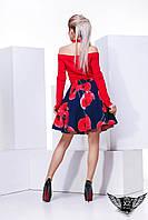 Платье с чокером и подьюбником и открытыми плечами