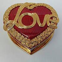 """Шкатулка  музыкальная в форме сердца """" Love"""""""