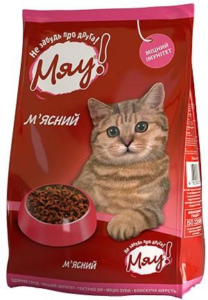 Мяу! Cухой корм для котов, мясной, 11 кг