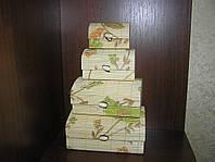 Набор бамбуковых шкатулок Загадочный цветок 4 шт.