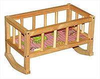 Кроватка деревянная с постелью  004/1