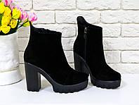 39aa81ffc Замшевые ботинки на каблуке 39, цена 1 639 грн., купить в Запорожье ...