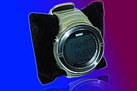 Часы с пульсометром и шагомером Skmei 1111 green