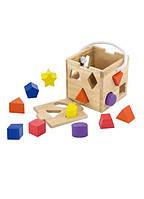 "Сортер Viga Toys ""Кубик"", деревянный кубик, деревянная игрушка сортер"