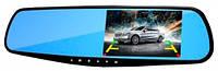 Автомобильный видеорегистратор-зеркало с выносной камерой заднего вида EPLUTUS D-02