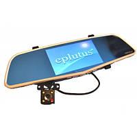 Автомобильный видеорегистратор-зеркало с выносной камерой заднего вида EPLUTUS D-27
