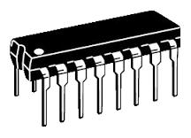 К561ЛН1 шість логічних елементів НЕ з блокуванням і забороною 16-pin (аналог CD4502)