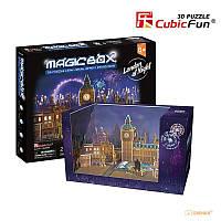 """CubicFun Трехмерная головоломка-конструктор """"MAGIC BOX. НОВЫЙ ГОД В ЛОНДОНЕ"""""""