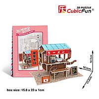 """CubicFun Трехмерная головоломка-конструктор """"ЯПОНИЯ. ТОРГОВЯ ТЕЛЕЖКА С ЛАПШОЙ"""""""