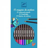 DJECO Цветной карандаш в твердой оболочке набор 12шт.