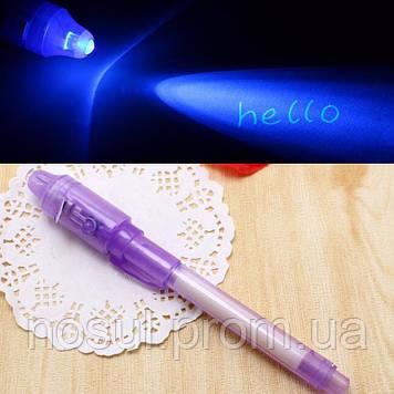Ручка с невидимыми чернилами +  УФ ультрафиолетовый фонарик UV #2