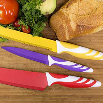 "Ножи кухонные с покрытием ""non-stick"" kamille"