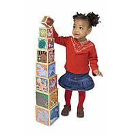 """Набор деревянных блоков-кубов """"Животные"""", Melissa&Doug"""