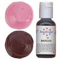 Краситель гелевый Americolor коричнево-малиновый цвет (Maroon) 21г.
