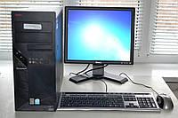 Компьютер в сборе 2х ядерный 2х2,2 Ггц/2Гб ОЗУ/80 Гб HDD/монитор 17 д/ клавиатура мышка/кабеля