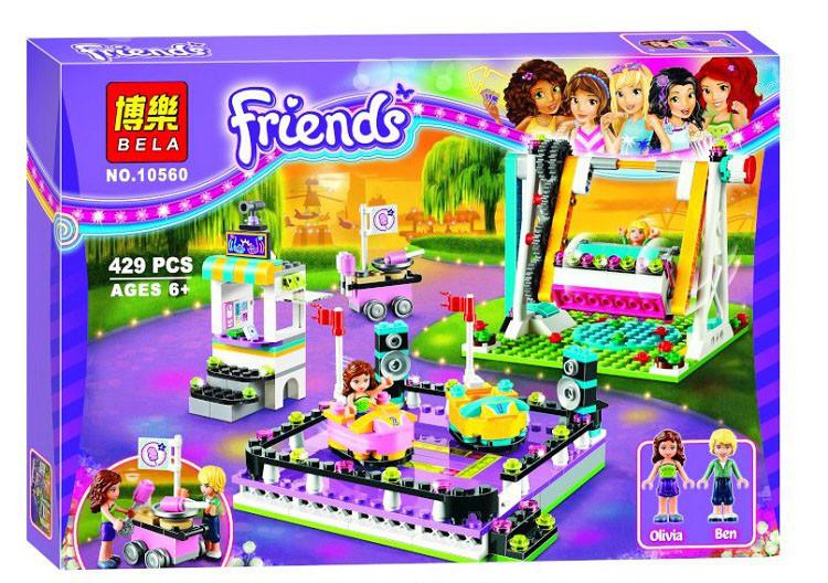 Конструктор Bela Friends 10560 Парк развлечений Автодром 429 деталей