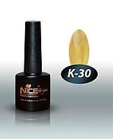 """Гель-лак Nice """"Кошачий глаз"""" К-30 (лимонад) 8.5 мл"""