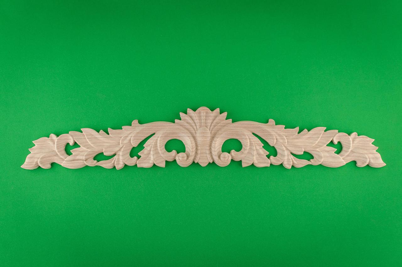 Код ДГ23.Деревянный резной декор для мебели. Декор горизонтальный