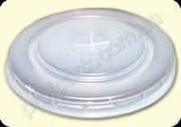 Крышка Д-95 для бумажного стакана, белая под трубочку, 50 шт/уп
