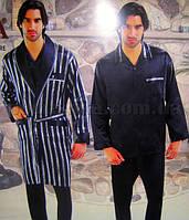 Набор мужской халат и пижама NS-9700-1 Nusa L коричневый