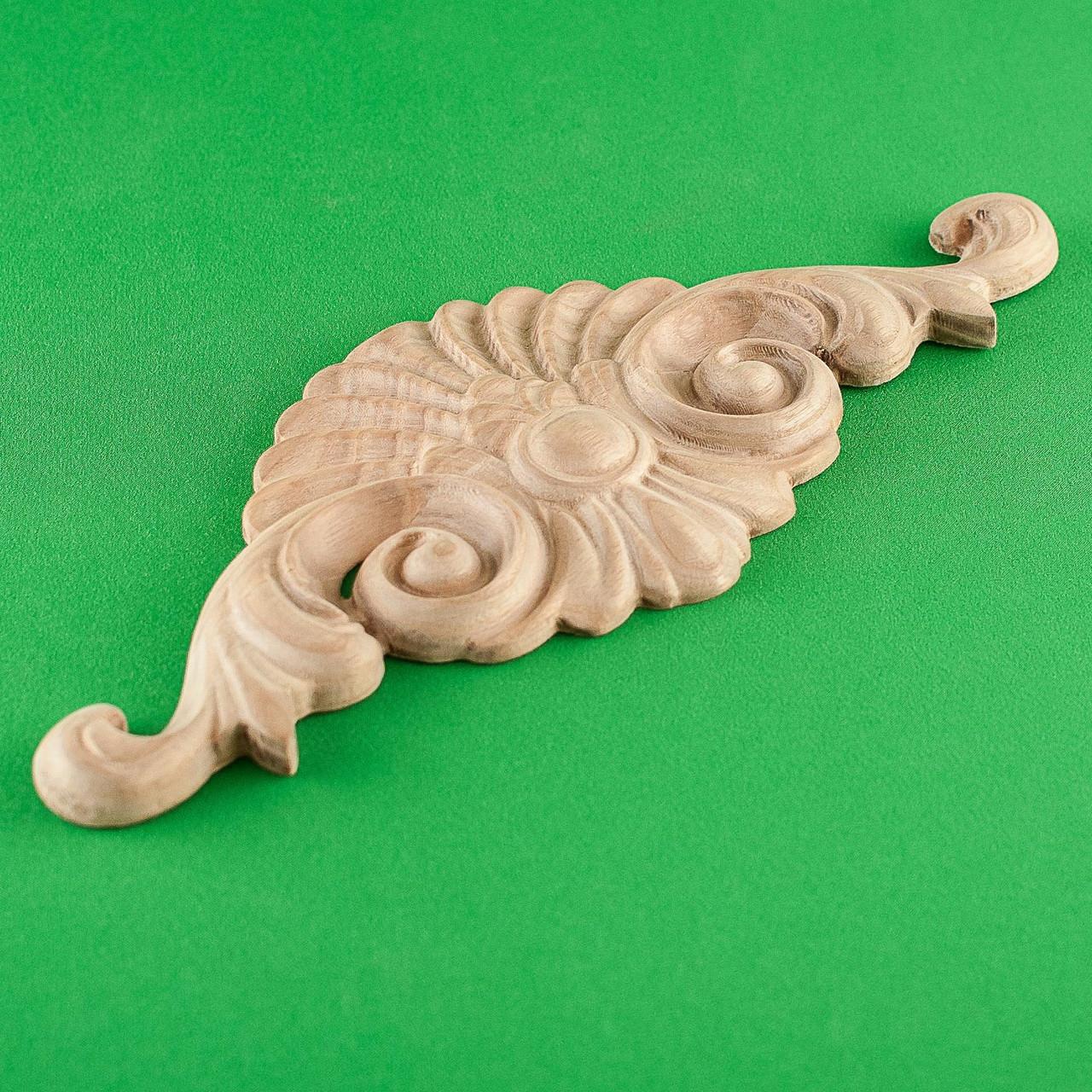 Код ДЦ1. Резной деревянный декор для мебели. Декор центральный