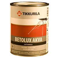Краска для бетонных и деревянных полов Tikkurila Бетолюкс Аква База А, 0,9 л