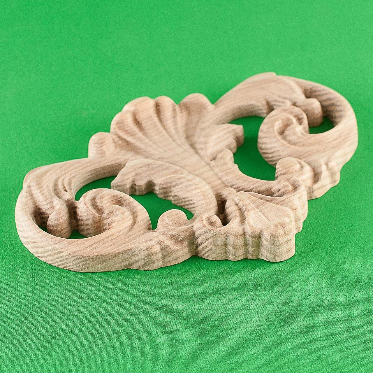 Код ДЦ9. Резной деревянный декор для мебели. Декор центральный