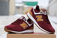 Мужские кроссовки NEW  BALANCE 574 capen, замшевые, красные / кроссовки мужские Нью Беланс 574 капен