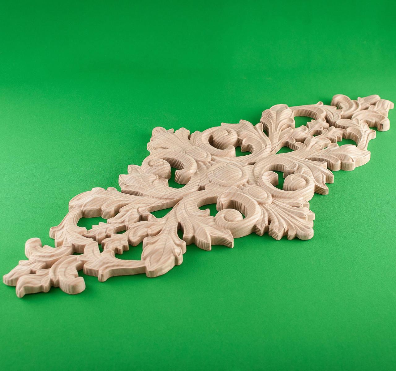 Код ДЦ11. Резной деревянный декор для мебели. Декор центральный